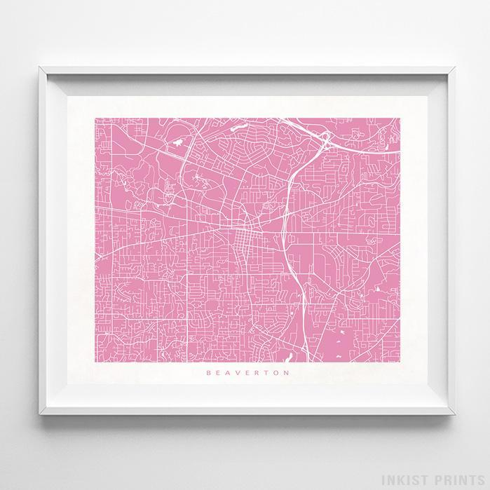 Beaverton, Oregon Street Map Print - Inkist Prints