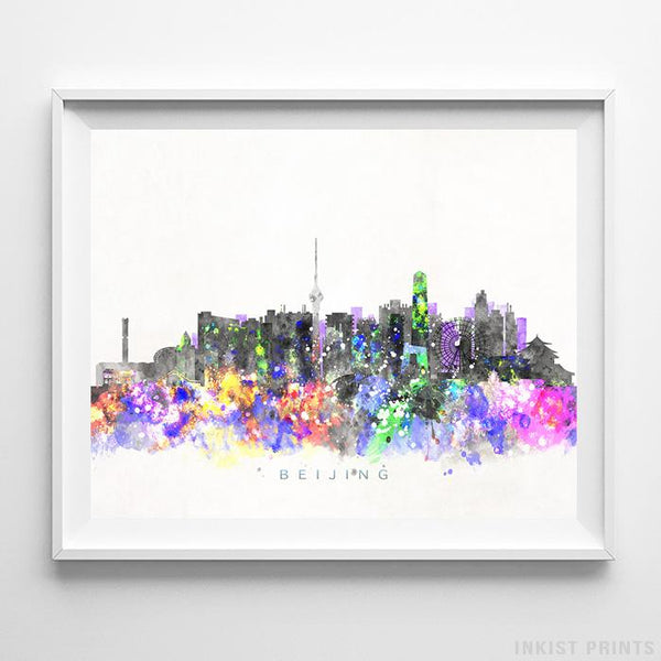 Beijing, China Skyline Watercolor Print-Poster-Wall_Art-Home_Decor-Inkist_Prints