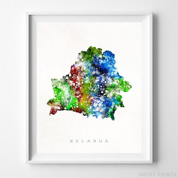 Belarus Watercolor Map Print-Poster-Wall_Art-Home_Decor-Inkist_Prints