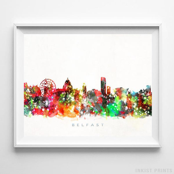 Belfast, Ireland Skyline Watercolor Print-Poster-Wall_Art-Home_Decor-Inkist_Prints