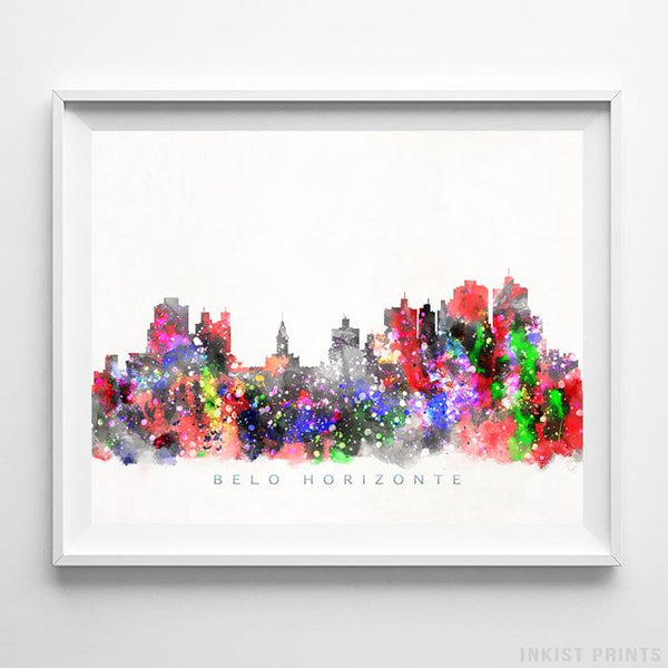 Belo Horizonte, Brazil Skyline Watercolor Print-Poster-Wall_Art-Home_Decor-Inkist_Prints