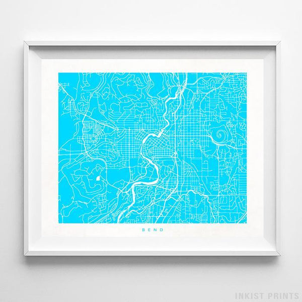 Bend, Oregon Street Map Horizontal Print-Poster-Wall_Art-Home_Decor-Inkist_Prints