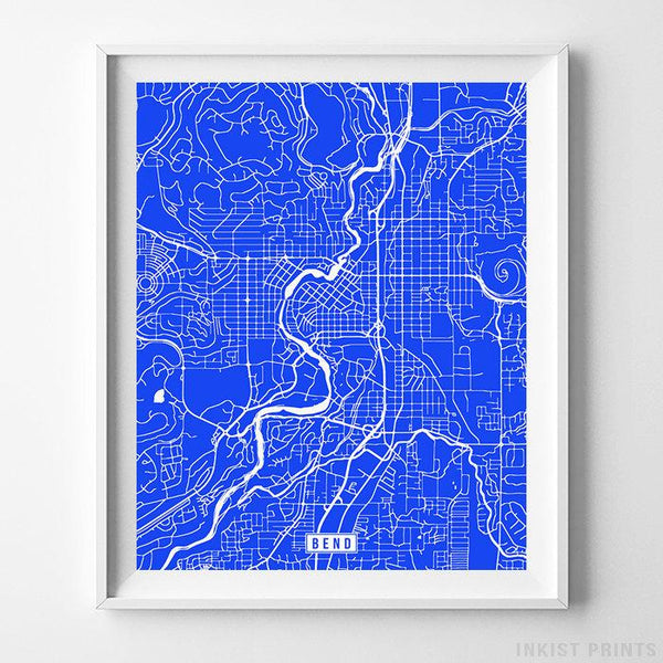 Bend, Oregon Street Map Vertical Print-Poster-Wall_Art-Home_Decor-Inkist_Prints