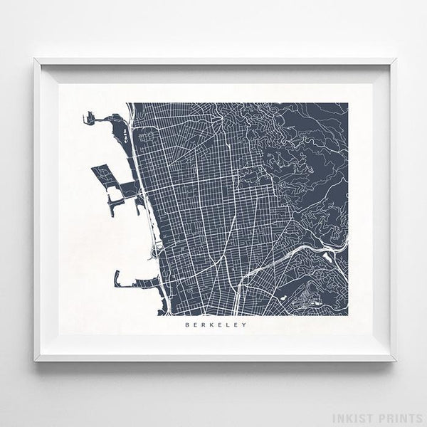 Berkeley, California Street Map Horizontal Print-Poster-Wall_Art-Home_Decor-Inkist_Prints