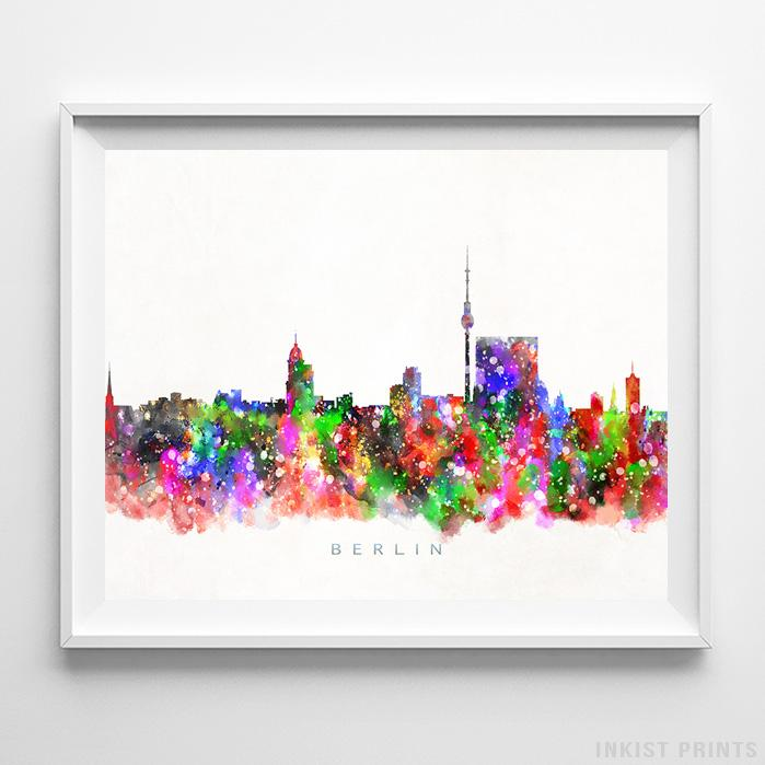 Berlin, Germany Skyline Watercolor Print - Inkist Prints
