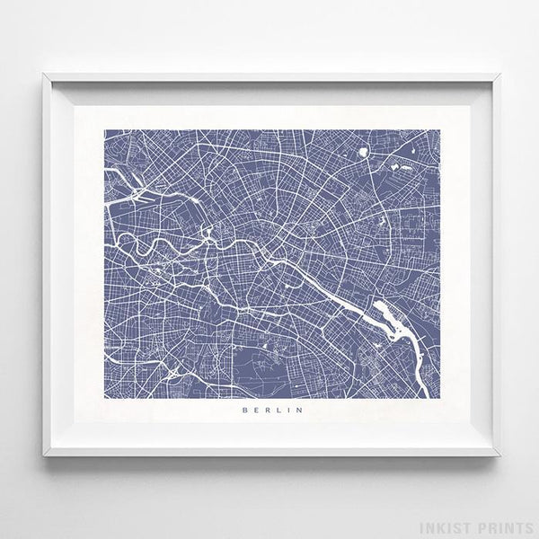 Berlin, Germany Street Map Horizontal Print-Poster-Wall_Art-Home_Decor-Inkist_Prints