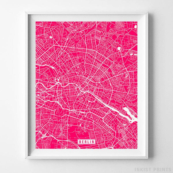 Berlin, Germany Street Map Vertical Print-Poster-Wall_Art-Home_Decor-Inkist_Prints