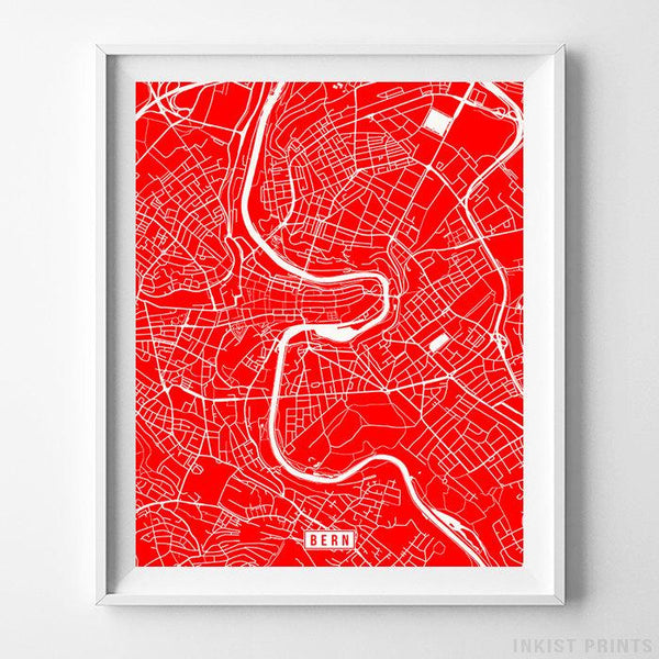 Bern, Switzerland Street Map Vertical Print-Poster-Wall_Art-Home_Decor-Inkist_Prints