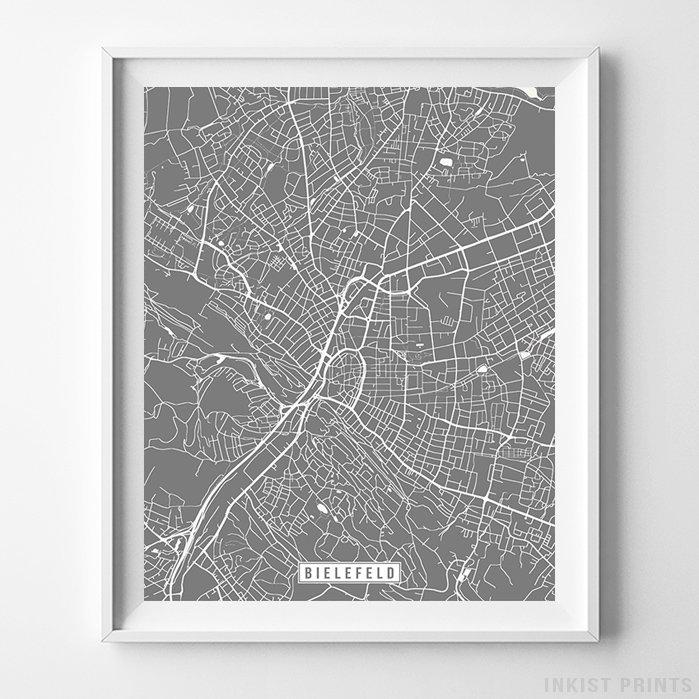 Bielefeld, Germany Street Map Vertical Print-Poster-Wall_Art-Home_Decor-Inkist_Prints