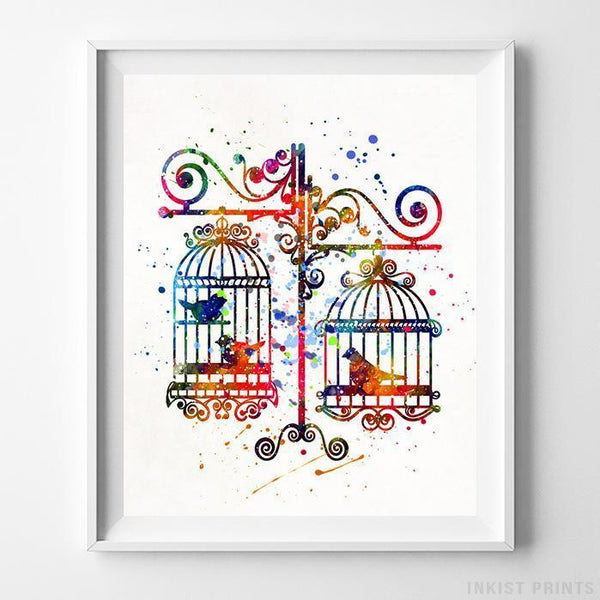 Birds in Cages Print - Inkist Prints