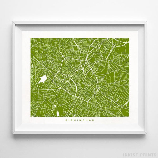 Birmingham, England Street Map Horizontal Print-Poster-Wall_Art-Home_Decor-Inkist_Prints