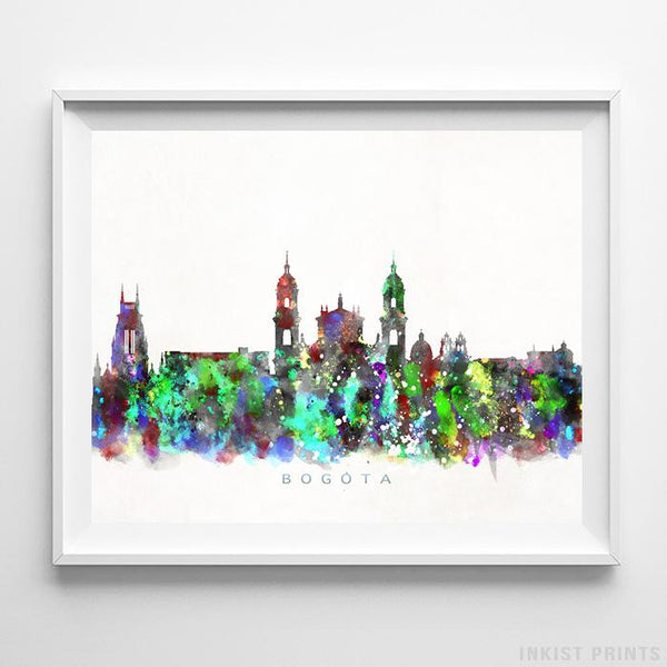 Bogota, Colombia Skyline Watercolor Print-Poster-Wall_Art-Home_Decor-Inkist_Prints