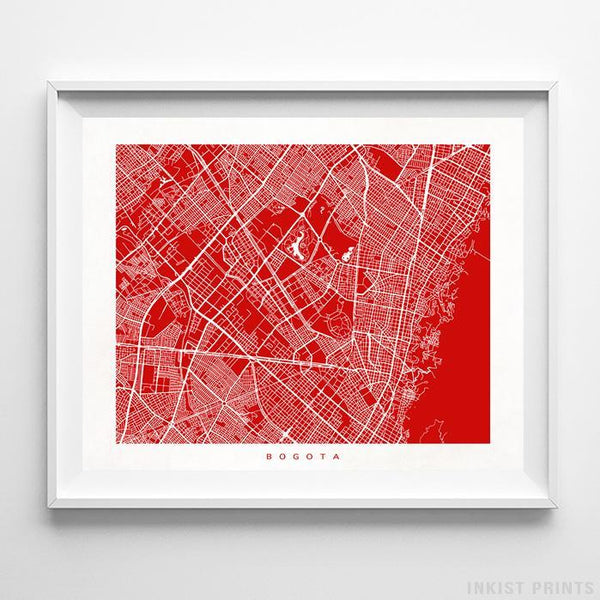 Bogota, Colombia Street Map Print Poster - Inkist Prints