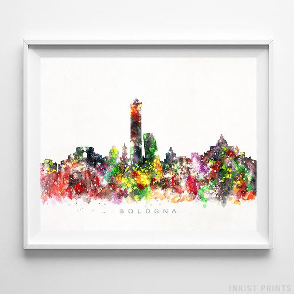Bologna, Italy Skyline Watercolor Print-Poster-Wall_Art-Home_Decor-Inkist_Prints