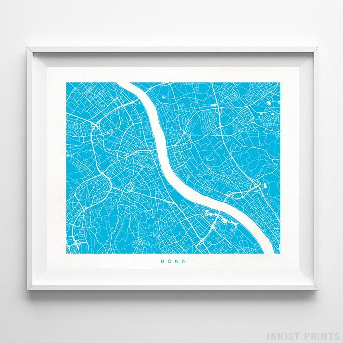 Bonn, Germany Street Map Print Poster - Inkist Prints