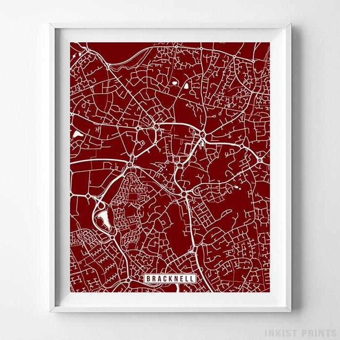 Bracknell, England Street Map Vertical Print-Poster-Wall_Art-Home_Decor-Inkist_Prints