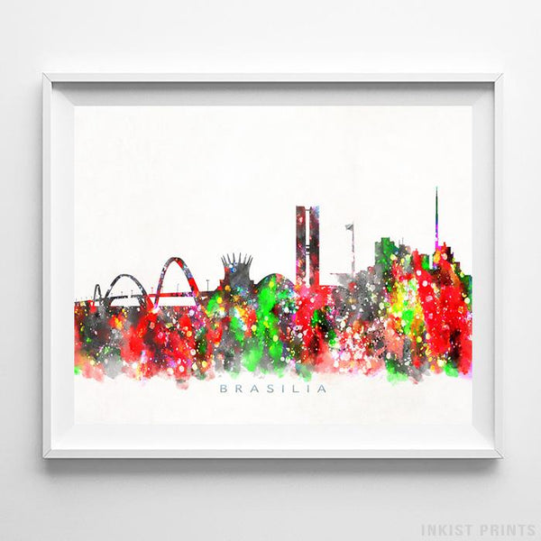 Brasilia, Brazil Skyline Watercolor Print-Poster-Wall_Art-Home_Decor-Inkist_Prints