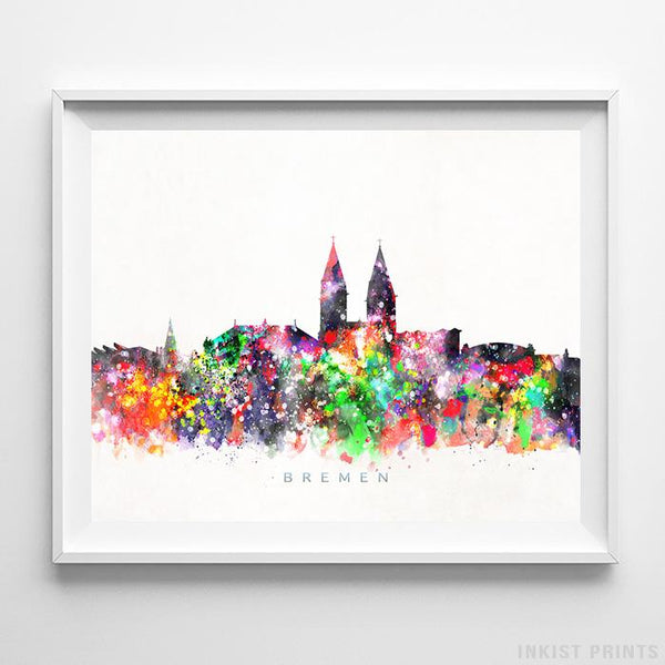 Bremen, Germany Skyline Watercolor Print-Poster-Wall_Art-Home_Decor-Inkist_Prints