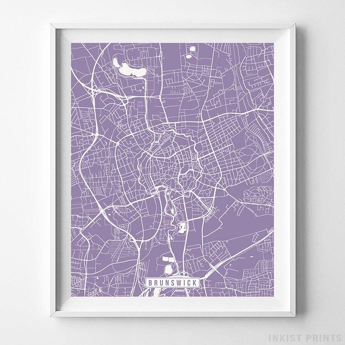 Brunswick, Germany Street Map Vertical Print-Poster-Wall_Art-Home_Decor-Inkist_Prints