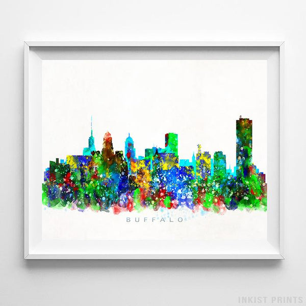 Buffalo, New York Skyline Watercolor Print-Poster-Wall_Art-Home_Decor-Inkist_Prints