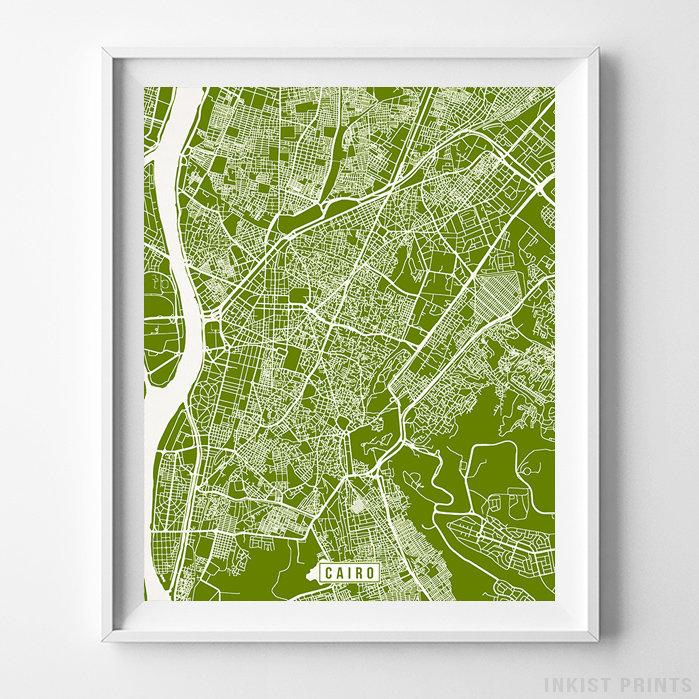 Cairo, Egypt Street Map Vertical Print-Poster-Wall_Art-Home_Decor-Inkist_Prints