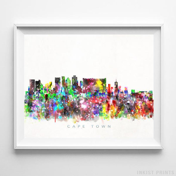 Cape Town, South Africa Skyline Watercolor Print-Poster-Wall_Art-Home_Decor-Inkist_Prints