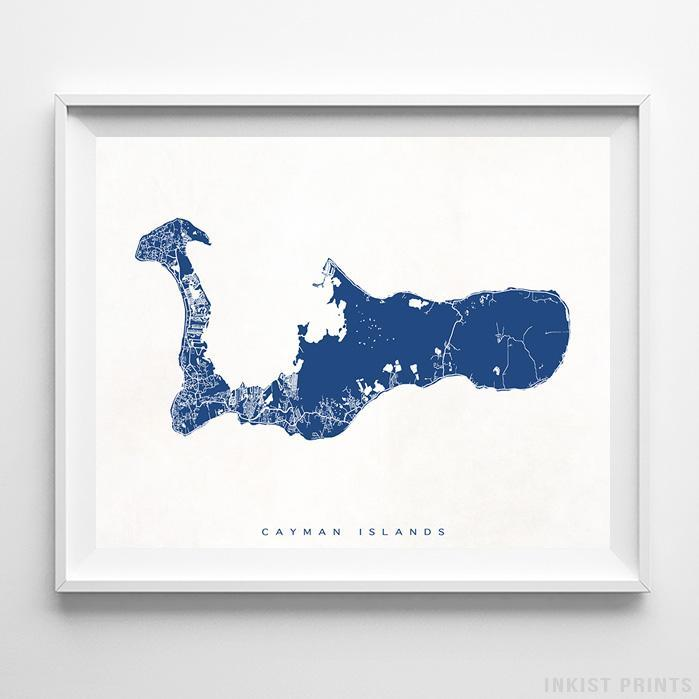 Cayman Islands Street Map Horizontal Print-Poster-Wall_Art-Home_Decor-Inkist_Prints