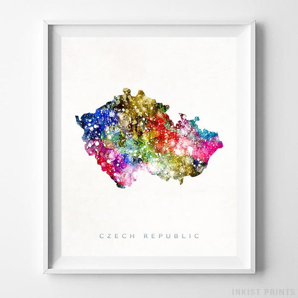 Czech Republic Watercolor Map Print - Inkist Prints