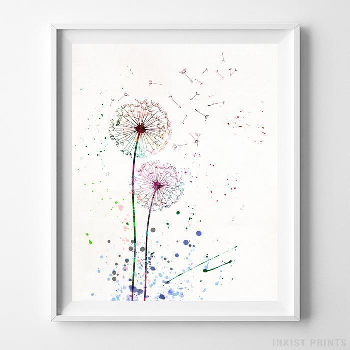 Dandelion Type 1 Print-Poster-Wall_Art-Home_Decor-Inkist_Prints