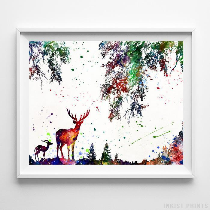 Deer and Nature Print-Poster-Wall_Art-Home_Decor-Inkist_Prints