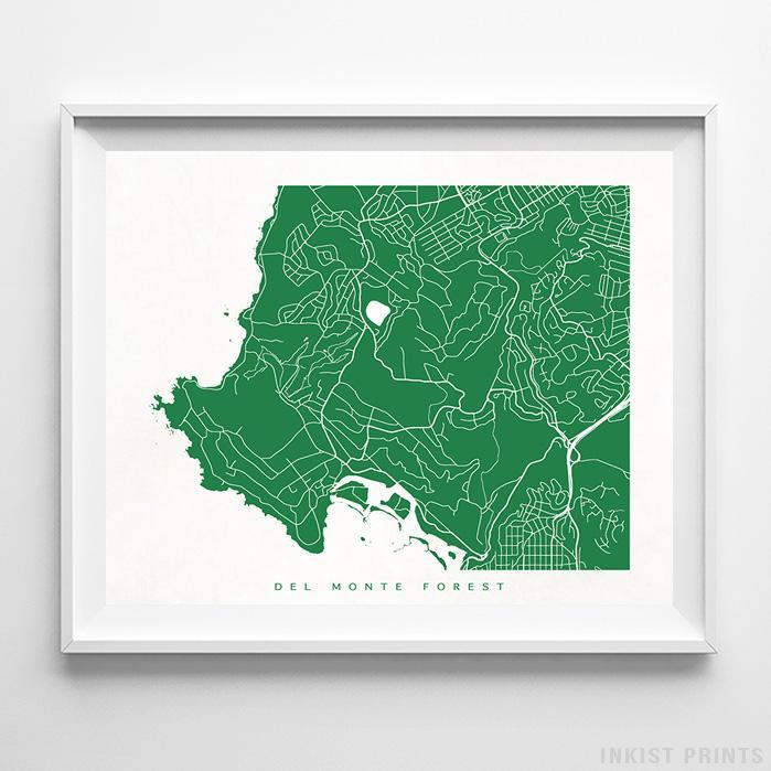 Del Monte Forest, California Street Map Horizontal Print-Poster-Wall_Art-Home_Decor-Inkist_Prints