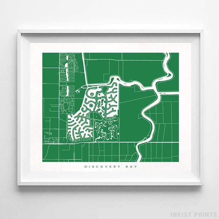 Discovery Bay, California Street Map Print Poster - Inkist Prints
