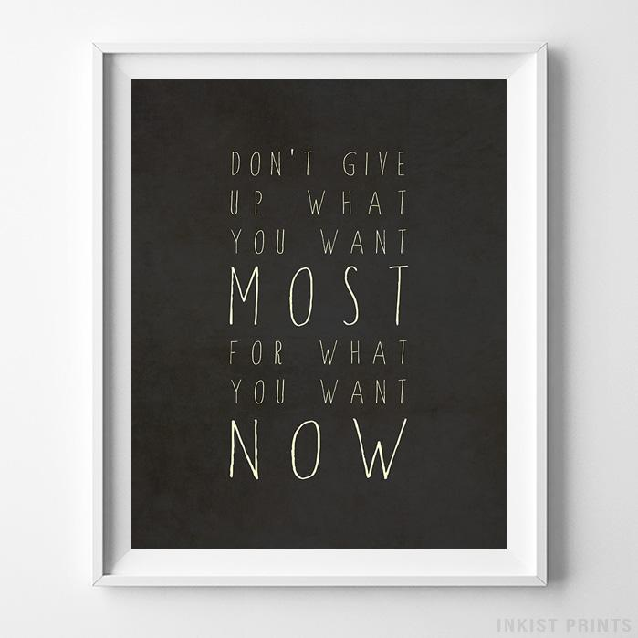 Don't Give Up Typography Print-Poster-Wall_Art-Home_Decor-Inkist_Prints