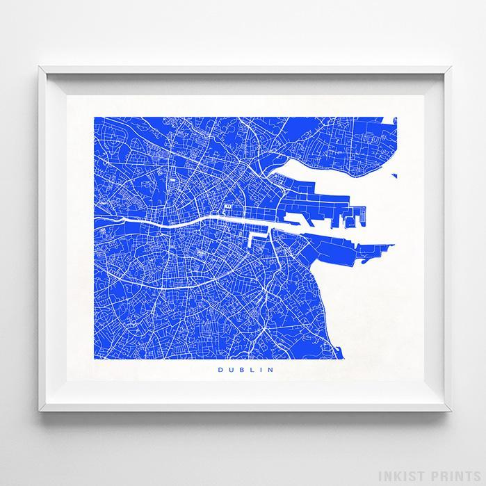 Dublin, Ireland Street Map Horizontal Print-Poster-Wall_Art-Home_Decor-Inkist_Prints