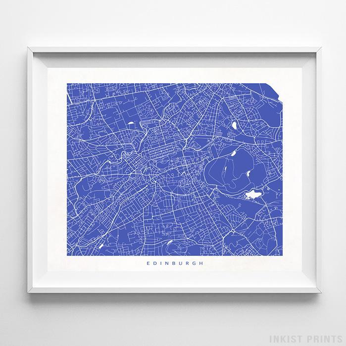 Edinburgh, Scotland Street Map Horizontal Print-Poster-Wall_Art-Home_Decor-Inkist_Prints