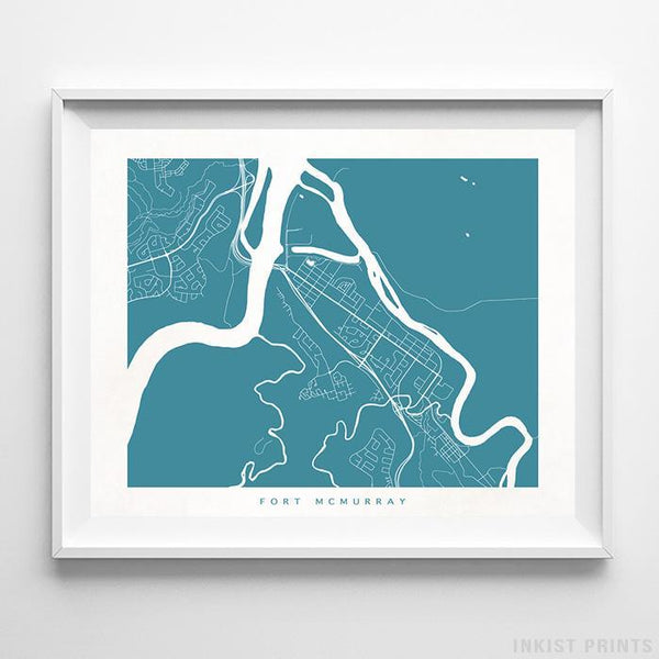 Fort McMurray, Canada Street Map Print - Inkist Prints