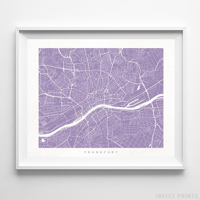 Frankfurt, Germany Street Map Print - Inkist Prints