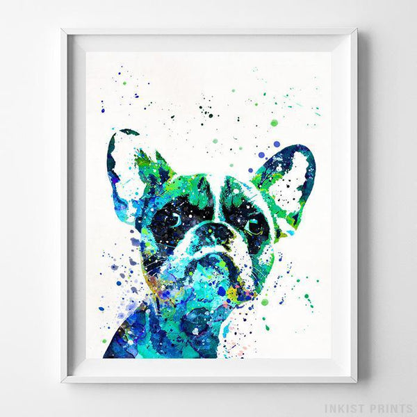 French Bulldog Print Wall Art Poster by Inkist Prints