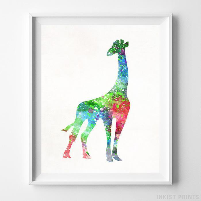Giraffe Type 1 Print-Poster-Wall_Art-Home_Decor-Inkist_Prints