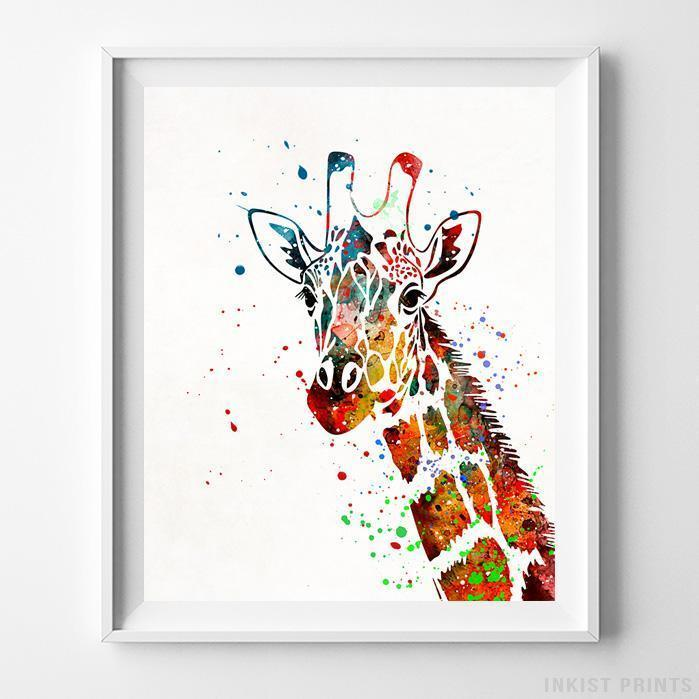 Giraffe Type 2 Print-Poster-Wall_Art-Home_Decor-Inkist_Prints