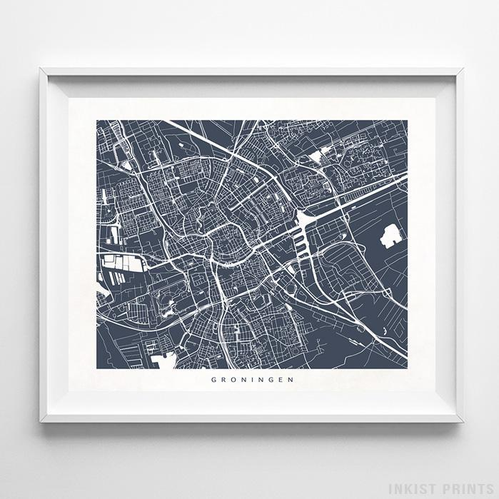 Groningen, Netherlands Street Map Horizontal Print-Poster-Wall_Art-Home_Decor-Inkist_Prints