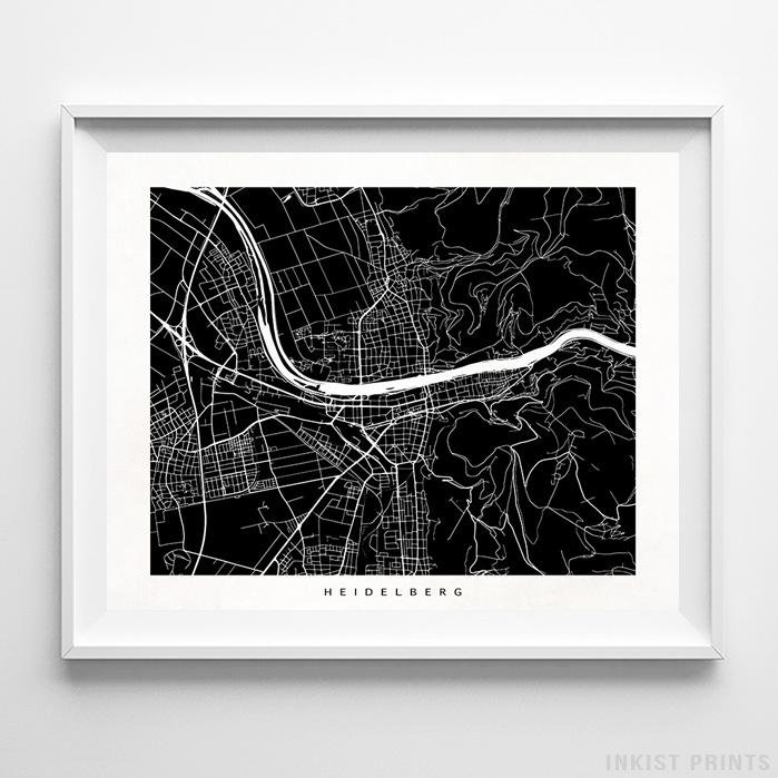 Heidelberg, Germany Street Map Print - Inkist Prints
