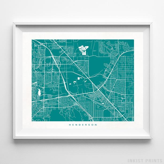 Henderson, Nevada Street Map Horizontal Print-Poster-Wall_Art-Home_Decor-Inkist_Prints