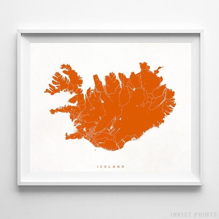 Iceland Street Map Horizontal Print-Poster-Wall_Art-Home_Decor-Inkist_Prints
