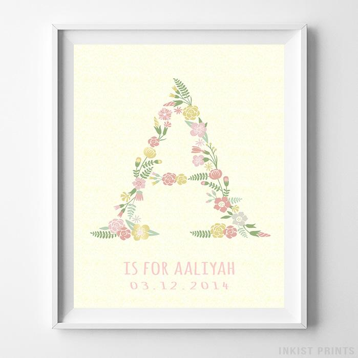 Initial 'A' Personalized Print-Poster-Wall_Art-Home_Decor-Inkist_Prints
