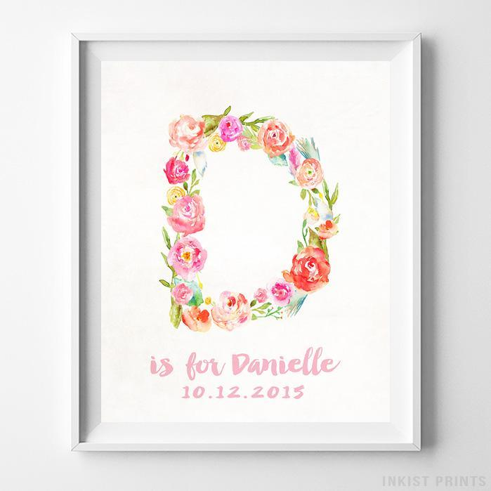 Initial 'D' Personalized Print-Poster-Wall_Art-Home_Decor-Inkist_Prints