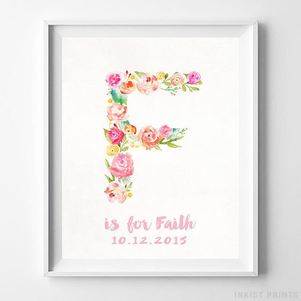 Initial 'F' Personalized Print-Poster-Wall_Art-Home_Decor-Inkist_Prints
