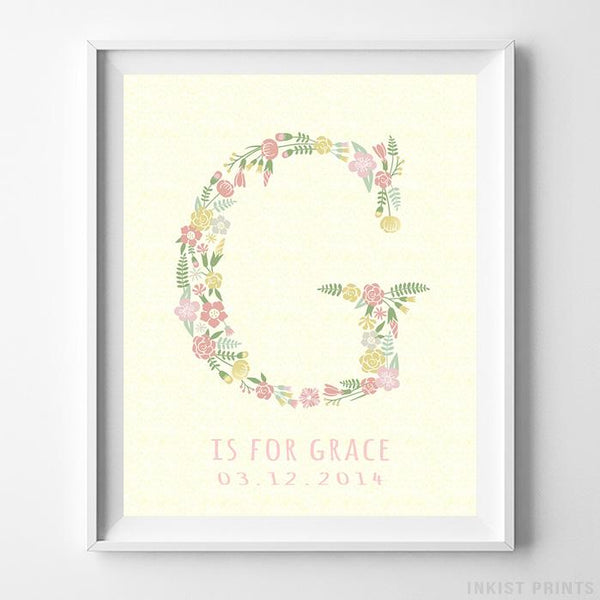 Initial 'G' Personalized Print - Inkist Prints