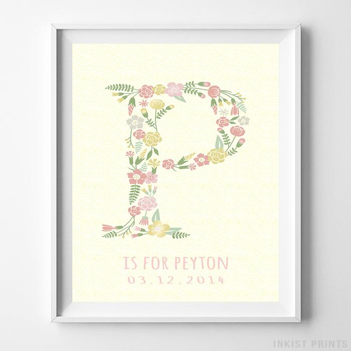 Initial 'P' Personalized Print - Inkist Prints
