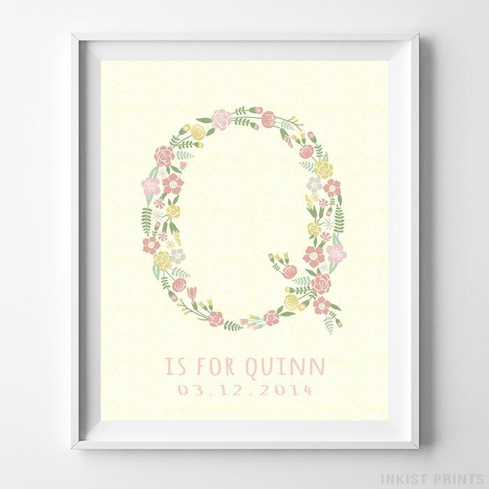 Initial 'Q' Personalized Print-Poster-Wall_Art-Home_Decor-Inkist_Prints
